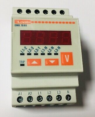MEDIDOR DE TENSION AC MODULAR ELECTRIC VOLTIMETRO DMK 70R1 LOVATO