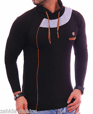 Herren Langarmshirt Shirt Pullover Pulli V-Neck Sweatshirt Hoodie Longshirt NEU