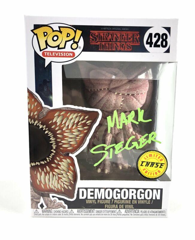 Mark Steger Autograph Funko POP Stranger Things Demogorgon Chase Signed JSA COA