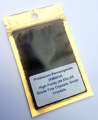 10g Potassium Permanganate Crystals 99,5% Pure High Grade KMnO4