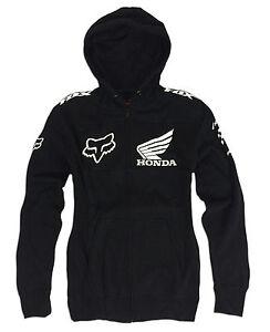 New FOX RACING Mens HONDA Hoody Size XL Motocross Hoodie Zip Jacket X-Large