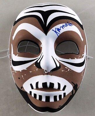 Wrestling Halloween Costume (Kamala Signed Pro Wrestling Mask Costume Prop Halloween Wrestler WWE WWF)