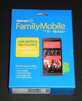 "New Sealed T-Mobile/Family Mobile HTC Desire 626S 5"" Prepaid 4G LTE Smartphone"