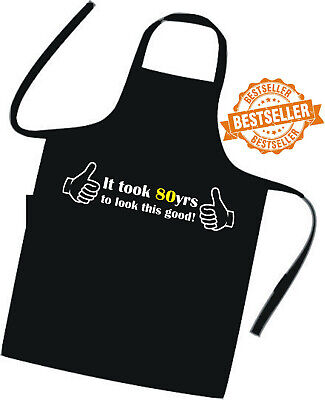 80 Th Birthday Ideas (80th BIRTHDAY Apron / EXCELLENT GIFT IDEA Suprise / Cooks / Chefs / Summer)