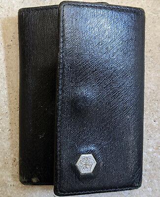 Versace Keychain / Keyholder Black Leather Beautiful Pocket Key Holder