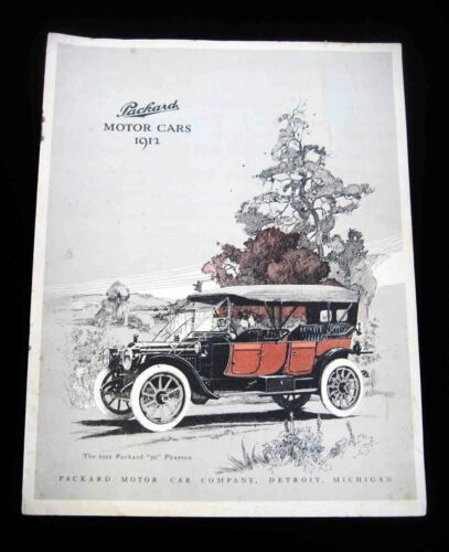 1912 PACKARD Motor Car / Automobile Catalog in 2 colors w/ Prices for 6 Models
