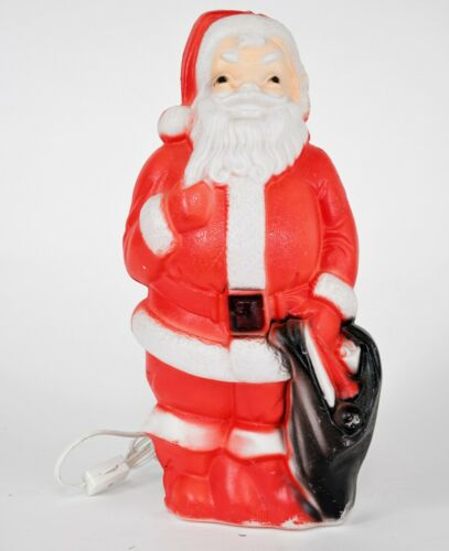 """Vintage Empire Blow Mold Santa Claus 1968 13"""" Lighted Christmas Working Light"""
