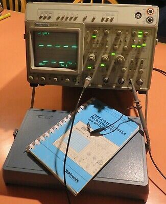 Tek 2445a 150mhz 4 Ch. Scope With Dmm Probes And Manual.