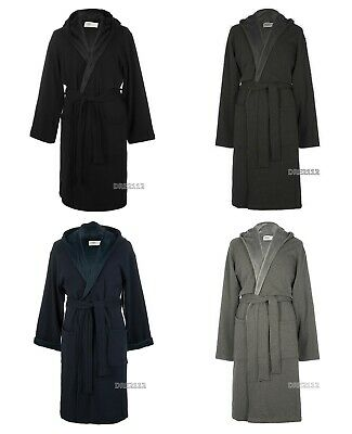 Mens Black Robe (UGG Brunswick Robe Black Navy Rock Ridge Grey Black Bear Heather Size M / L /)
