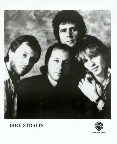 Dire Straits, CLASSIC official 8x10 press photo! GLOSSY record company portrait
