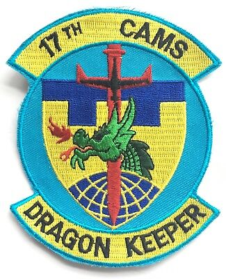 17th CAMS Dragon Keeper USAF Embroidered Patch **LAST ONE**