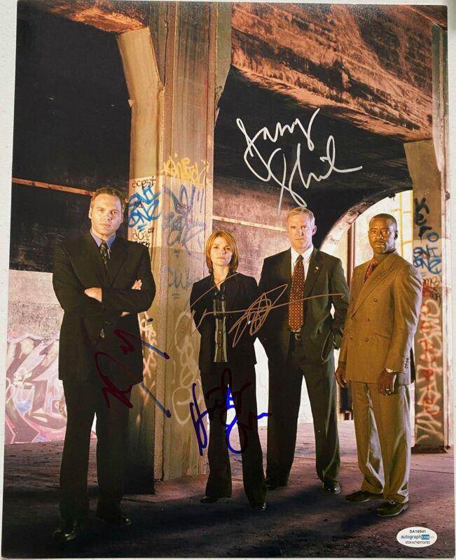 """""""Law & Order: Criminal Intent"""" Cast AUTOGRAPHS Signed 11x14 Photo X4 ACOA"""