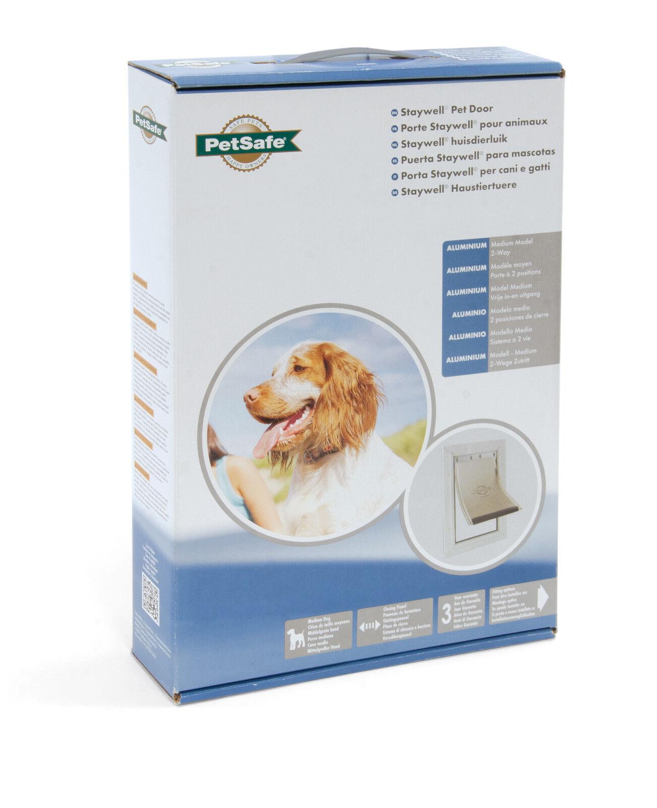 New Aluminium Dog Door Flap Staywell Small Medium Large Extra 600