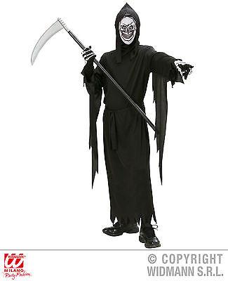 S0314 Kinder Kostüm Sensenmann - Robe, Gürtel, Maske mit Kapuze - 125 bis 158 cm