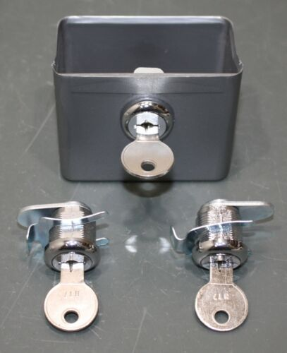 Hospeco Replacement Lock Set/Coin Box from D1 Series Sanitary Product Dispenser