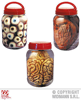 Labor Gefäß Innereien Augen Gehirn Herz,  Deko Horror Halloween ()