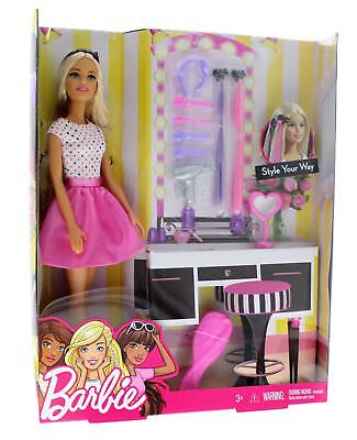 Barbie Doll & Hair Accessories Style Your Way