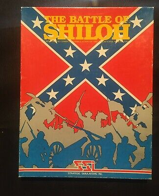 """THE BATTLE OF SHILOH ATARI 400/800 or Apple 5 ¼"""" FLOPPY  COMPLETE IN BOX  1981"""
