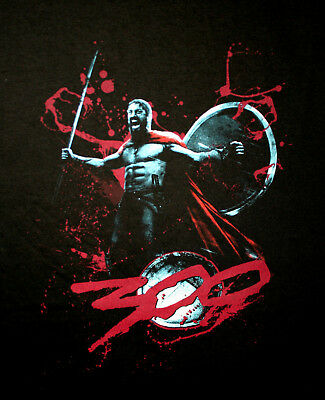 Vtg The 300 Movie Release Leonidas Stand Fight & Die T-Shirt New Sz 2XL NOS 2007 - The 300 Movie