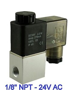 1-8-Inch-Normally-Closed-Pneumatic-Aluminum-Air-Warer-Solenoid-Valve-24V-AC-DIN