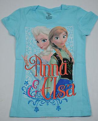 Disney Frozen Anna & Elsa Tee Shirt Top Cancun Girls NWT