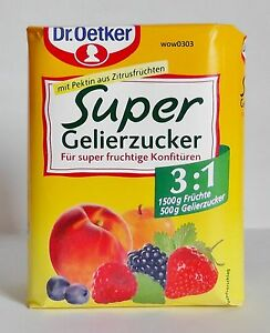 dr oetker super gelierzucker 3 1 500g ebay. Black Bedroom Furniture Sets. Home Design Ideas
