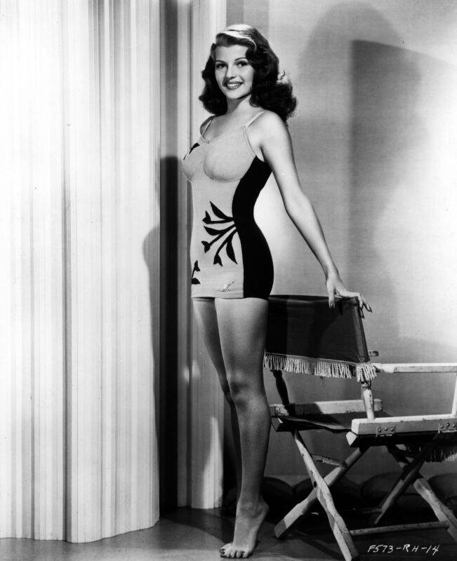 Rita Hayworth Classic Swimsuit Black And White 8x10 Photo Print
