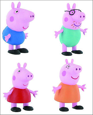 Official Bullyland Comansi Peppa Pig Figures Toy Figure Cake Topper Toppers ()
