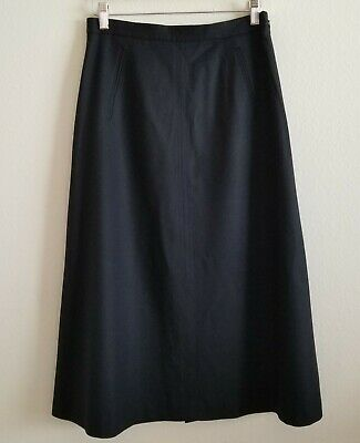 New Talbots A-Line Midi Length Skirt size 6 Black Wool with Pockets
