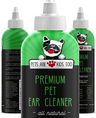 Dog and Cat Ear Cleaner Solution – All-Natural!  For Ear Infections, Mites, D...