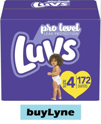 Luvs Triple Leakguards Diapers - Size 4 (172ct) **buyLyne**