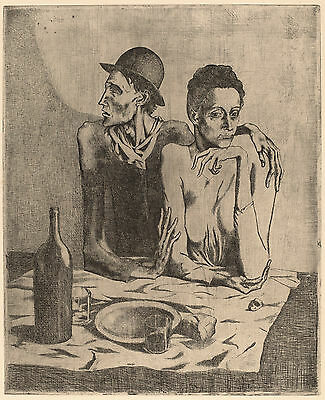 Pablo Picasso Reproduction: The Frugal Repast (Le Repast frugal): Fine Art Print