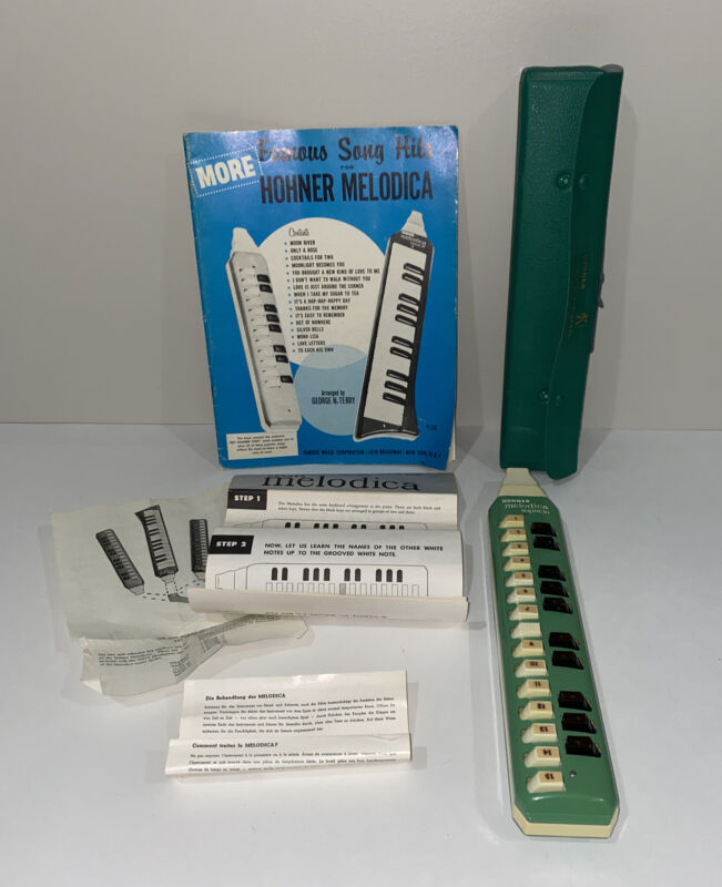 1950 Hohner Melodica-soprano Instrument Germany Songbook WORKS