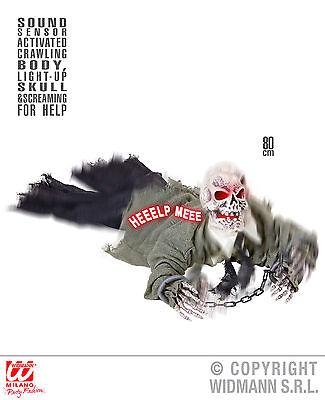 Deko Figur Untoter Zombie Skelett Groundbreaker Schallsensor animiert - Animierte Halloween Skelett