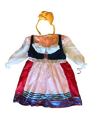 Inflatable German Lady Halloween Costume, AirBlown Dress and Wig, EUC](Inflatable Wig)
