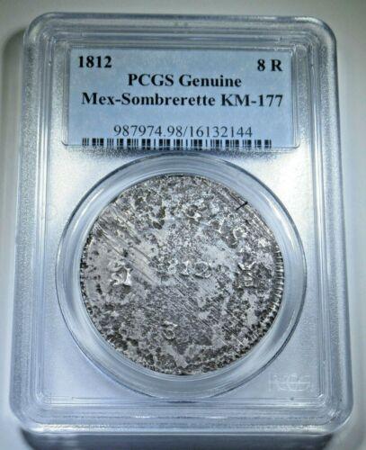 Mexico Sombrerete de Vargas 1812 Silver 8 Reales Eight Real Antique PCGS Coin