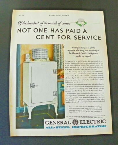 1930 General Electric GE Monitor Refrigerator Ad