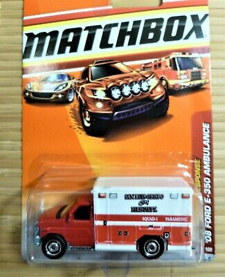 MATCHBOX '08 FORD E-350 AMBULANCE (54/100 2009) EMERGENCY RESPONSE (BUY 1 OR 2)