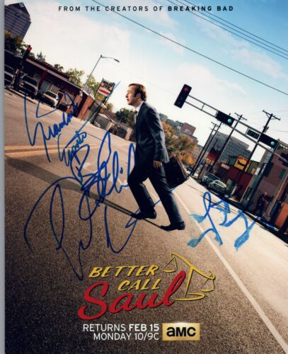 BETTER CALL SAUL Cast Signed Autograph 8x10 Photo by 4 Bob Odenkirk Esposito COA
