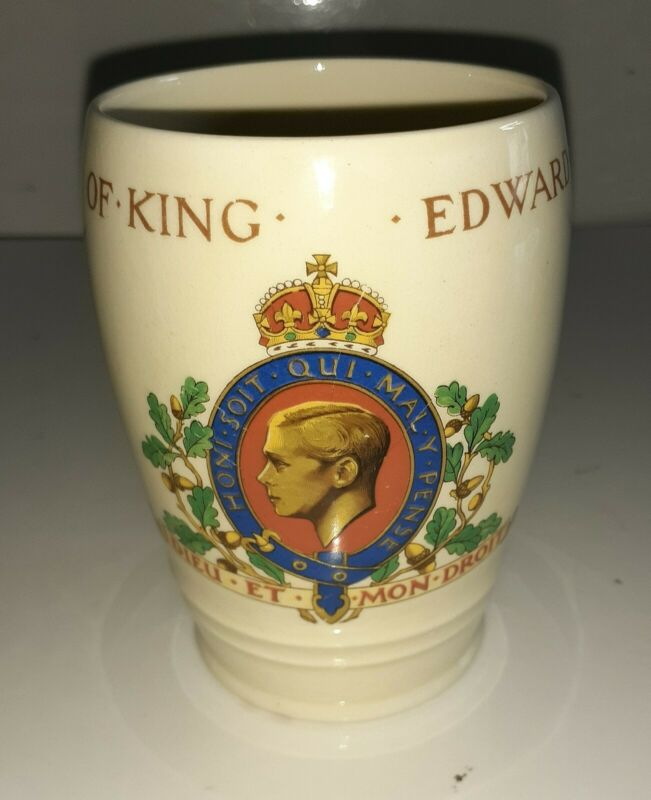 HM King Edward VIII Commemorative 1937 Coronation Tankard Cup Rare
