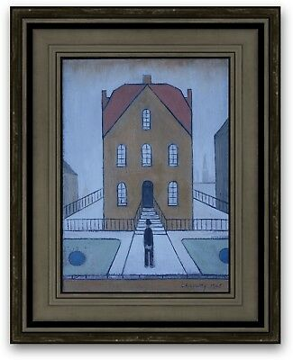 ORIGINAL Vintage Oil Painting Northern School Signed and Dated L S Lowry 1965