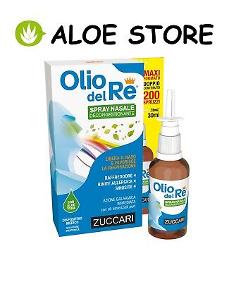 ZUCCARI 1x OLIO DEL RE SPRAY NASALE 30ml - RAFFREDDORE RINITE ALLERGICA SINUSITE