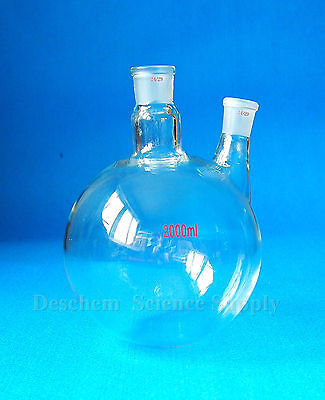2000ml24292 Necksround Bottom Glass Flask2l Reaction Bottletwins Neck