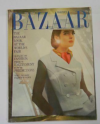 Harpers Bazaar February 1964 , World's Fair, Hiro, Hats, Tortoise Shell Bags