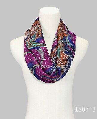 New Style Paisley Print Infinity Scarf for Spring/Summer/Fall