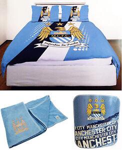 Manchester-City-FC-Doble-Ropa-De-Cama-Manta-Polar-amp-Toalla-Oficial-Man-Ciudad