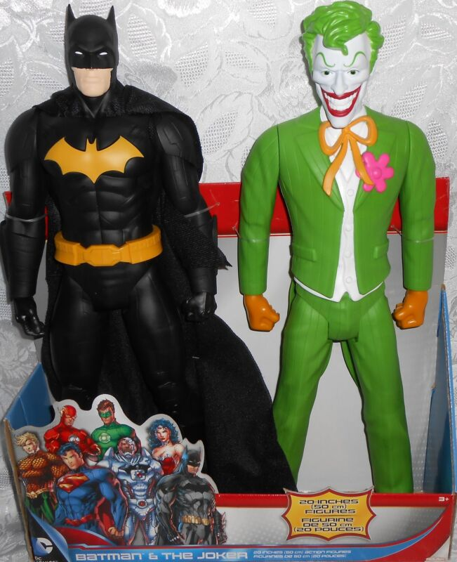 """New Collectible DC Universe 20"""" Batman and The Joker 2-Pack Action Figures"""