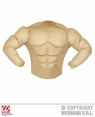 Super Muskel Shirt Herren Kostüm Fasching Karneval Muskelprotz Muskeln (Muskel Kostüm)