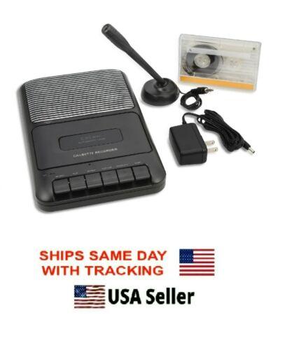 ONN Portable Cassette Recorder Player Built In Speaker External Microphone NEW!