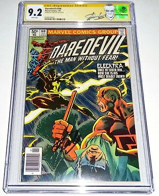 Daredevil #168 Origin & 1st App Elecktra CGC SS Signature STAN LEE Autograph POW